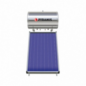Pyramis Ηλιακός Θερμοσίφωνας 160Lt Επιλεκτικού Συλλέκτη 2 τ.μ. (Διπλής Ενέργειας)