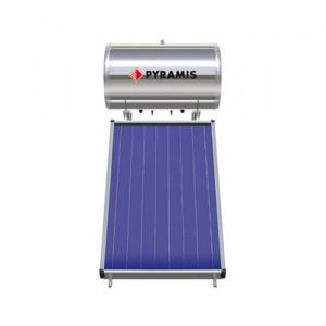 Pyramis Ηλιακός Θερμοσίφωνας 120Lt Επιλεκτικού συλλέκτη Διπλής Ενέργειας
