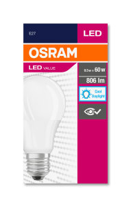 LED-VALUE-CLA-60-8.5W-865-FR-E27-MiCh